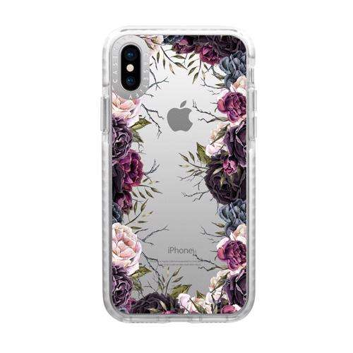 CASETIFY iPhone XS Max Impact Case Dark Floral