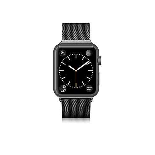 CASETIFY Apple Watch Band Stainless Steel for All Series 42/44mm Black