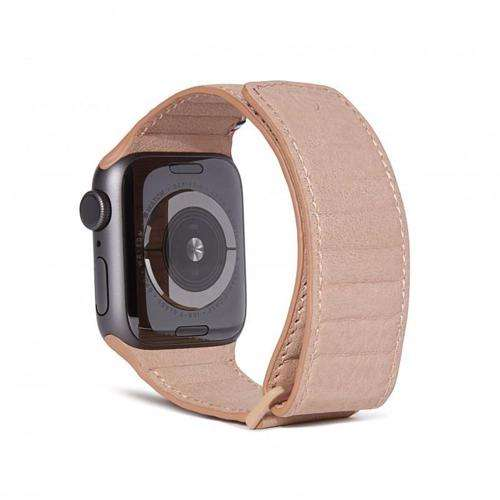 DECODED 42-44mm Leather Magnetic Traction Strap for Apple Watch Series 5, 4, 3, 2, and 1 - Pink
