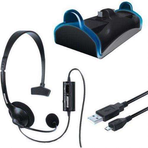 DREAMGEAR Charge & Chat Bundle for PS4