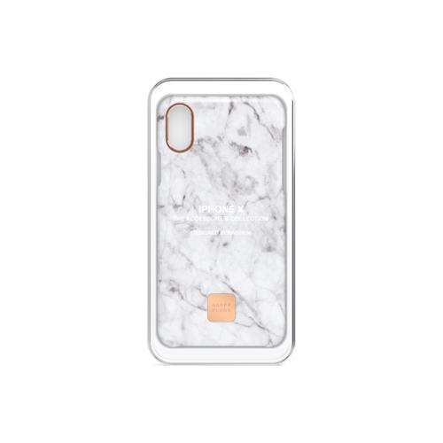 HAPPY PLUGS Slim Case for iPhone XS Max White Marble