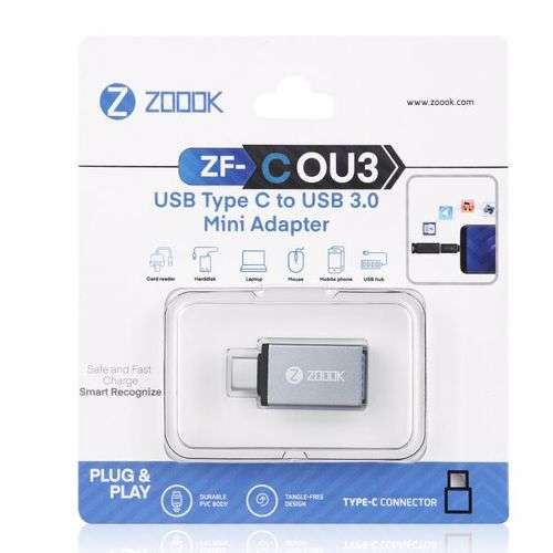 Zoook ZF COU3 USB Type C to USB 3.0 Mini Adapter - Space Grey