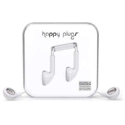 HAPPY PLUGS Earbuds White