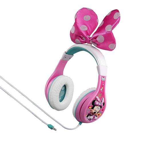 iHOME Kiddesigns Over-Ear Headphone Minnie Mouse Youth Headphones With Bow