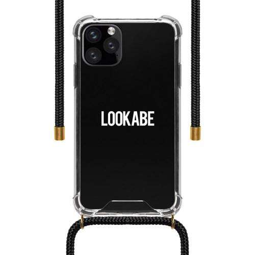 LOOKABE Necklace Clear Case with Cord for iPhone 11 Pro - Black