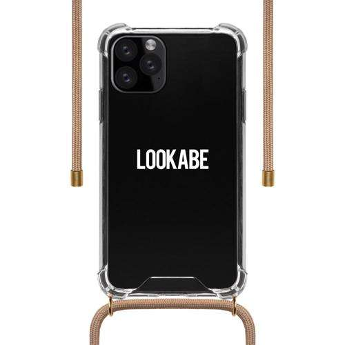 LOOKABE Necklace Clear Case with Cord for iPhone 11 Pro Max - Nude