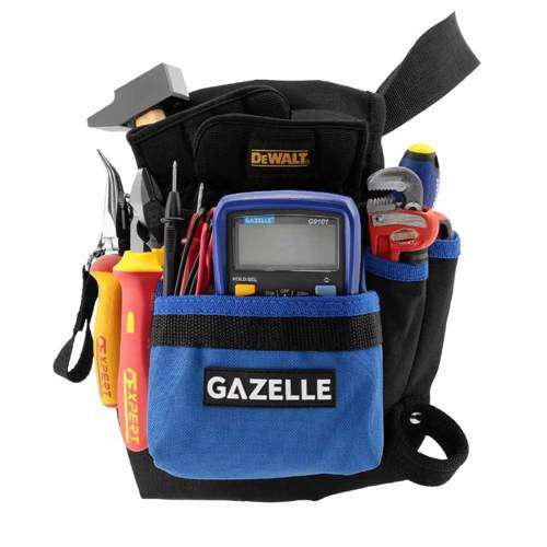 GAZELLE - 7 Pocket Toolbag with beltSize: 9.5In L x 11In H / 600D Polyester