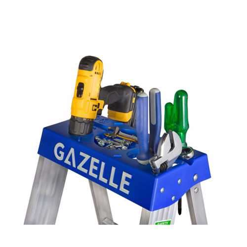 GAZELLE - 6 Ft. Aluminium Step Ladder for working height up to 10 Ft.