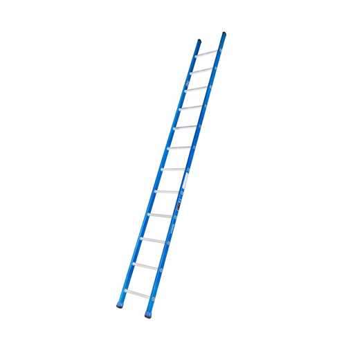 GAZELLE - 12 Ft. Fiberglass Straight Ladder for working height up to 15.5 Ft.
