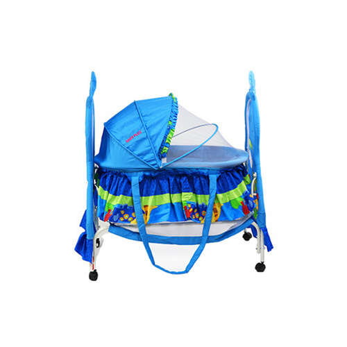 Baby Plus BP8297 Baby swing cradle cum crib With removable Mosquito Net - Blue