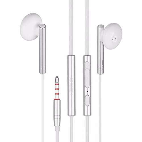 Zoook Wave Metallic HD Earphones with Xbass & Mic, Mic on single wire,for extra convenience - White