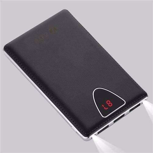Zoook ZP PBS10C Mobile Portable Charger 10000mAh Polymer Triple USB with LCD Display ( Ultra Sleek) - Black