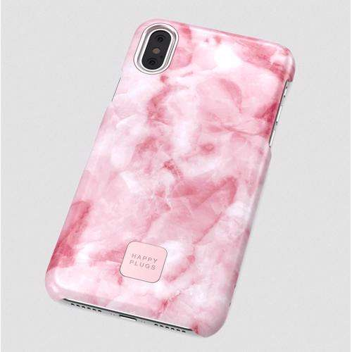 HAPPY PLUGS Slim Case for iPhone XS Max Pink Marble