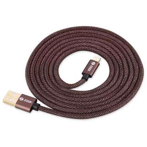 Zoook Denim Fabric Pure Copper Cable for Charge & Sync 1m / 2A Support/ Micro USB - Denim Brown