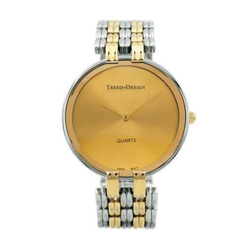 Trend Setter Men''s Two Tone Gold Watch - Alloy Metal TD3101M-3