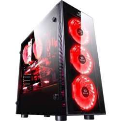 Redragon Sideswipe Gaming Pc Case,Tempered Glass, 3 X 120Mm Fan Included (Case Only) - Black