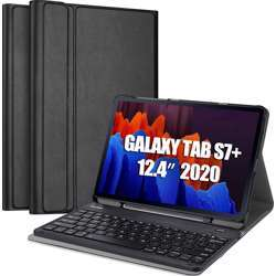 Samsung Galaxy Tab S7+ Plus Bookcover Keyboard With S Pen Holder - Black