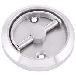 Furniture Sliding Inset/Flush/Concealed Round Door Handle - Drawer/Cabinet/Closet preview
