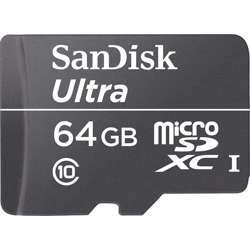 SanDisk 64 GB Microsd No Adapter 100Mbps