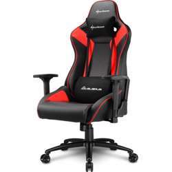 Sharkoon Elbrus 3 Gaming Chair, 3D Armrests, Class-4 Gas Lift Piston, Reliably Durable Up To 150Kg - Red