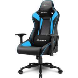 Sharkoon Elbrus 3 Gaming Chair, 3D Armrests, Class-4 Gas Lift Piston, Reliably Durable Up To 150Kg - Blue