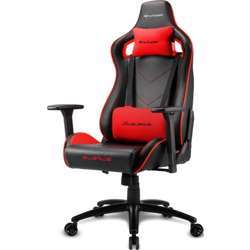 Sharkoon Elbrus 2 Gaming Chair, 3D Armrests, Class-4 Gas Lift Piston, Reliably Durable Up To 150Kg - Red