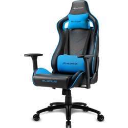 Sharkoon Elbrus 2 Gaming Chair, 3D Armrests, Class-4 Gas Lift Piston, Reliably Durable Up To 150Kg - Blue