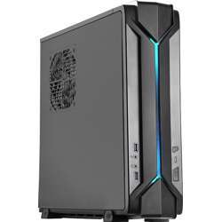 """Silverstone Technology Slim Computer Case For Mini-Itx Motherboards With Integrated RGB Lighting, Dual 2.5""""  SSD/HDD Slots, Adjustable Graphic Card Holder, Support 2.5"""" Drive, USB 3.0"""