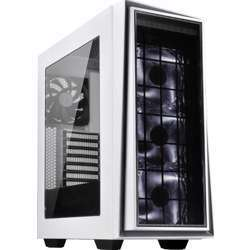 Silverstone Redline Series With Silver Trim + Led Fan Mid Tower Computer Case White