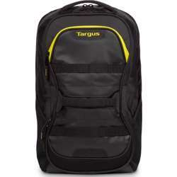 Targus Work & Play Fitness 15.6 Inch Laptop Backpack, Tsb944Eu, 27 Liters Capacity, Faux Leather (Pu), Poly Material, Black / Yellow