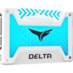 """Team Group T-Force Delta 2.5"""" 250GB SATA  Iii Internal RGB Solid State Drive ( SSD) - White"""