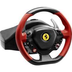 Thrustmaster Ferrari 458 Spider Racing Wheel, Kinect Detection Led, Xbox One - Red