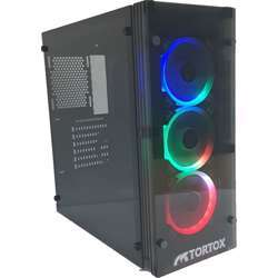 Tortox Shadow Extreme Mid Tower Gaming Case with RGB Fans