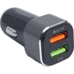 Touchmate 2 USB Port Fast Car Charger 3 In 1 Cable