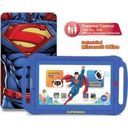 """Touchmate 7"""" 3G Calling Quad Core Kids Tablet With Ms Office Preloaded, 16GB Storage, 1GB Ram, Android 8.1 Os, Ips Super Clear Screen, Dual Camera & Tf Card Slot, With Silicone Cover Bundle - Blue"""