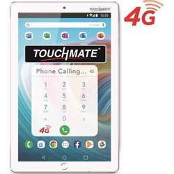 """Touchmate 10.1"""" 4G Calling Quad Core Tablet With Ms Office Preloaded, 32GB Storage, 3GB Ram, Android 9 Os, Ips Super Clear Screen, Dual Camera & Tf Card Slot, With Flip Cover Bundle - White"""