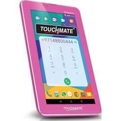 """Touchmate 7"""" 3G Calling Quad Core Tablet With Ms Office Preloaded, 16GB Storage, 1GB Ram, Android 7.0 Os, Hd Super Clear Screen - Pink"""