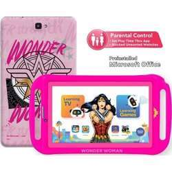 """Touchmate Wonder Woman 7"""" 3G Calling Quad Core Kids Tablet With Ms Office Preloaded, 16GB Storage, 1GB Ram, Android 8.1 Os, Ips Super Clear Screen, Dual Camera & Tf Card Slot, With Silicone Cover"""