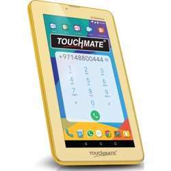 """Touchmate 7"""" 3G Calling Quad Core Tablet With Ms Office Preloaded - 16GB Storage - 1GB Ram, Android 7.0 Os - Hd Super Clear Screen - Gold"""