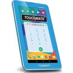 """Touchmate 7"""" 3G Calling Quad Core Tablet With Ms Office Preloaded - 16GB Storage - 1GB Ram, Android 7.0 Os - Hd Super Clear Screen - Blue"""
