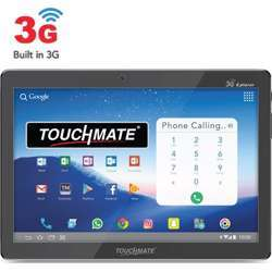 """Touchmate 10.1"""" 3G Calling Quad Core Tablet With Ms Office Preloaded 16GB Storage, 1GB Ram, Android 8.1 Os, Ips Super Clear Screen, Dual Camera & Tf Card Slot - Black"""