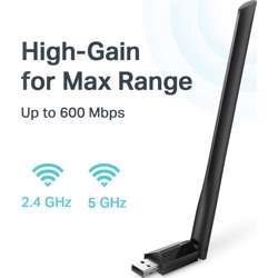 TP-Link USB Wifi Adapter For Pc Ac600Mbps Wireless Network Adapter For Desktop Archer