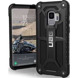Urban Wave Armor Gear UAG Designed for Samsung Galaxy S9, 5.8-inch Screen Monarch Feather-Light Rugged, Military Drop Tested Phone Case - Black