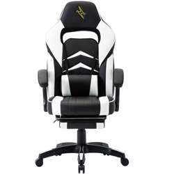 Urban Wave UW-PRO Series Gaming Chair with Footrest and Adjustable Arms (Helsinki Model) - White
