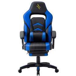 Urban Wave UW-PRO Series Gaming Chair with Footrest and Adjustable Arms - Blue