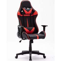 Urban Wave OC 7797, High Back Gaming Chair, PU Leather With Fixed Armrest - Black & Red