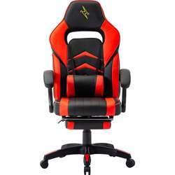 Urban Wave UW-PRO Series Gaming Chair with Footrest and Adjustable Arms (Helsinki Model) - Red
