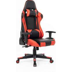 Urban Wave Ergonomic Gaming Chair Computer Office Chair with Headrest Pillow and Lumbar Support (Mosco Model) - Red