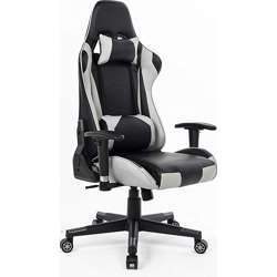 Urban Wave Ergonomic Gaming Chair Computer Office Chair with Headrest Pillow and Lumbar Support (Mosco Model) - Grey