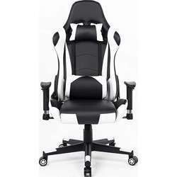 Urban Wave Ergonomic Gaming Chair Computer Office Chair with Headrest Pillow and Lumbar Support (Mosco Model) - White